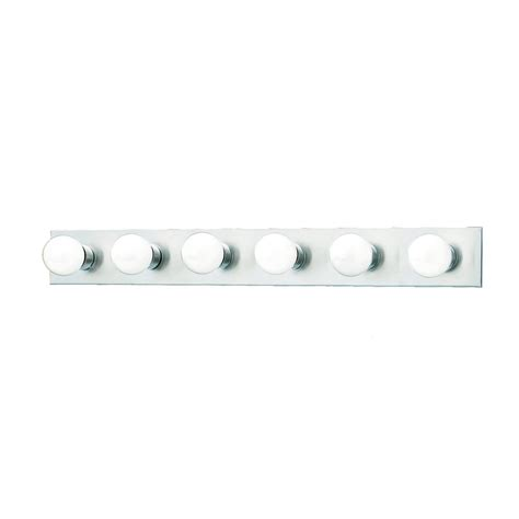 Vanity Light Bar by Shop Lighting 6 Light 4 25 In Brushed Nickel Vanity