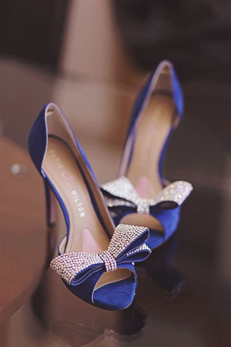 blue wedding shoes blue high heels bridals shoes