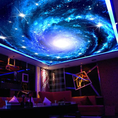 wallpaper galaxy on5 custom 3d photo wallpaper galaxy star ceiling fresco wall