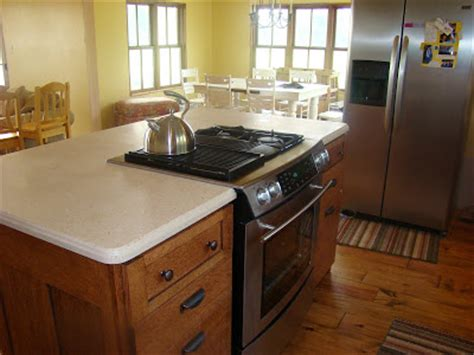 kitchen stove island quarter sawn oak kitchen island with center stove