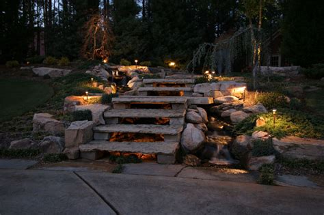 aquascape pond lights pond and landscape lighting tropical landscape