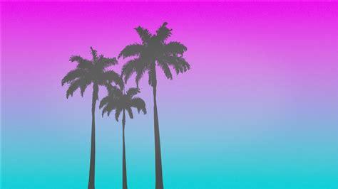 retro style  palm trees wallpapers hd desktop