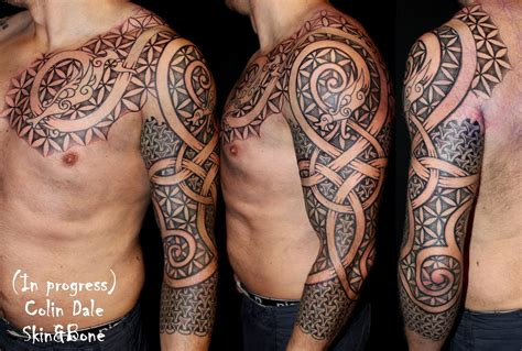 norwegian tribal tattoos skin bone artistic process these gave me their