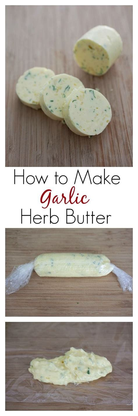 how to make garlic herb butter learn the picture step by step so easy to make and you can make