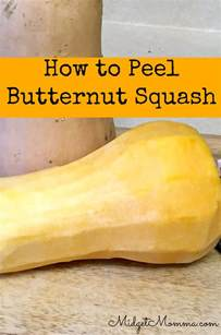 peel butternut squash step by step