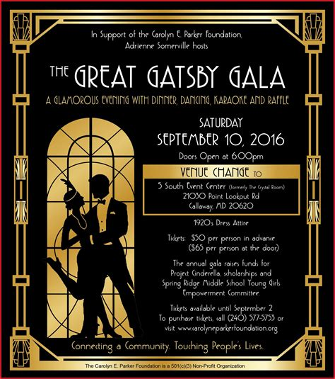 Blank Great Gatsby Invitation Template Skycloudcus Com Blank Great Gatsby Invitation Template