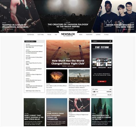 50 best wordpress magazine themes templates design