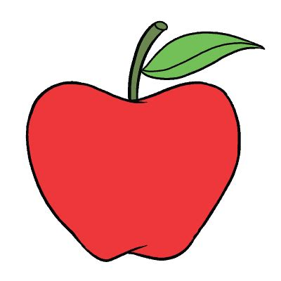 apple drawing how to draw an apple really easy drawing tutorial