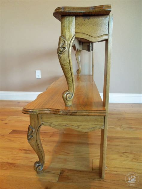 entryway table repurposed from a coffee table plan