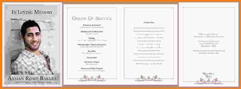 memorial order of service template funeral order of service template shatterlion info