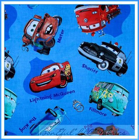 letter of character boneful fabric fq disney car letter name blue boy 1385