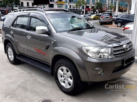toyota fortuner 2010 v trd sportivo 2 7 in selangor automatic suv grey for rm 72 800 3646502