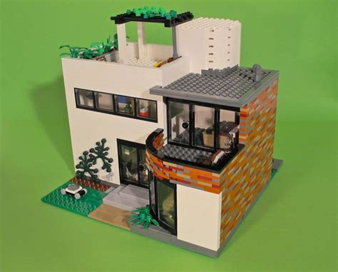 wood lego house villa whiteout scandinavian villa from the 1930s