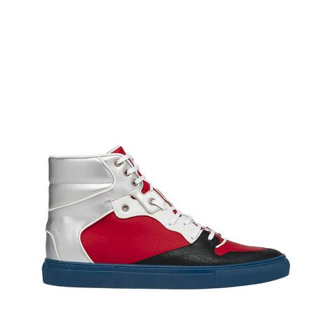s balenciaga sneakers balenciaga balenciaga multimaterial perforated high