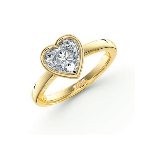 bezel set shaped engagement ring in palladium