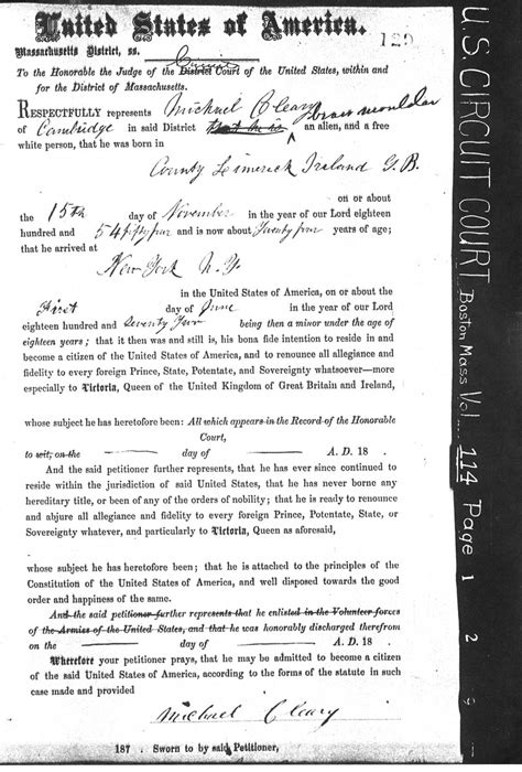 Boston Birth Records Massachusetts Naturalization Citizenship Records