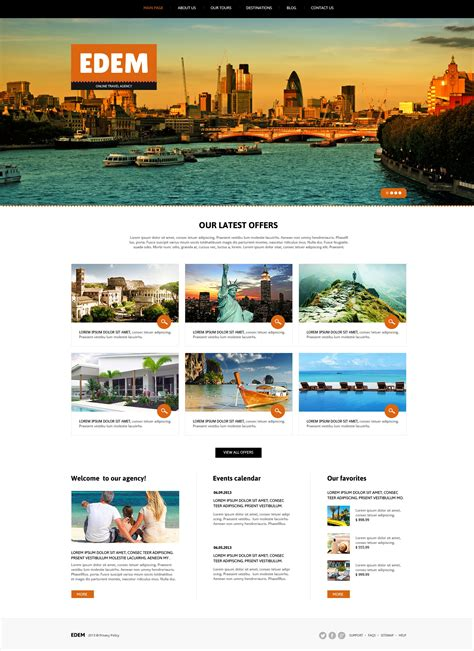 travel agency responsive joomla template 46097