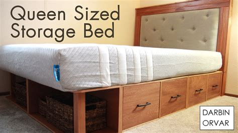 queen bed with drawers diy diy queen storage bed w drawers