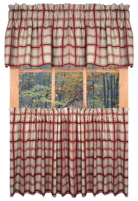 country plaid kitchen curtains logan plaid country kitchen curtains