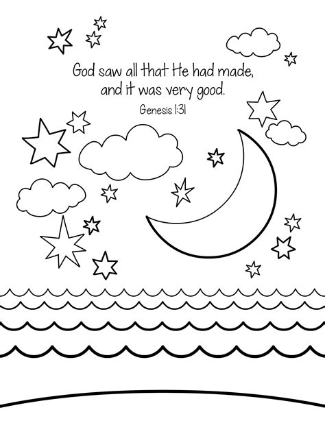 creation coloring pages preschool bible memory verse coloring sheet creation online