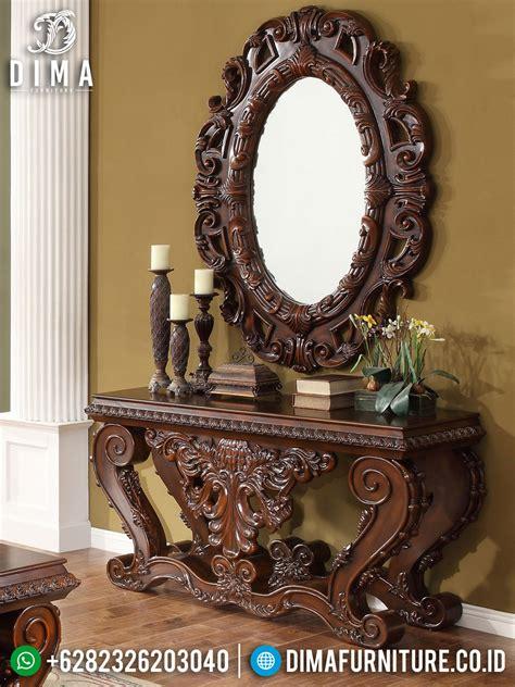 Cermin Hias Untuk Ruang Tamu meja konsol jati jepara meja konsul mewah terbaru cermin
