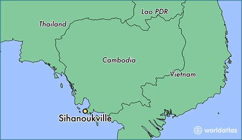 cambodia in the world map where is sihanoukville cambodia where is sihanoukville