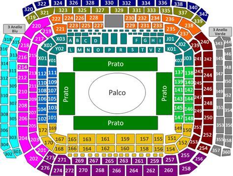 stadio san siro posti a sedere biglietti concerto fedez e j ax venerd 236 01 giugno 2018