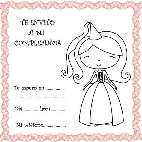 imagenes de invitaciones infantiles 2565 4 invitaciones con princesas para fiestas de