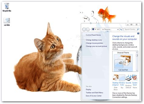 kitty kat themes download cat and fish theme