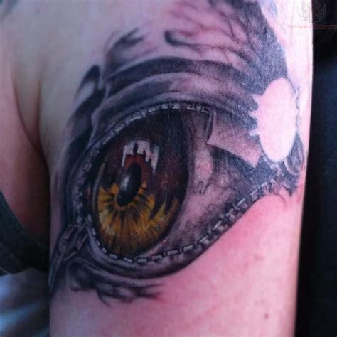 left eye tattoo zipper images designs