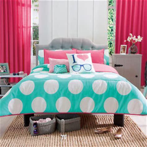 Bedroom Sets For Teenagers new girls aqua white polka dots peach comforter bedding set