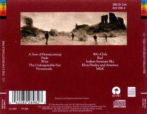 Cd U2 The Unforgettable pochettes de cd
