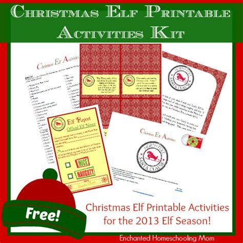 elf on the shelf printable resources free christmas elf printable activities kit free