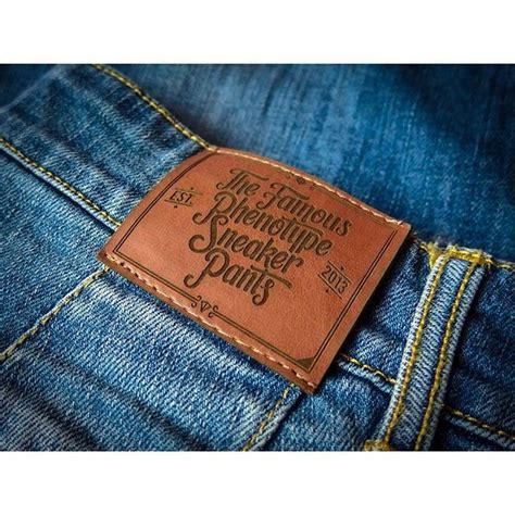 design label jeans leather laser logo leather label jacron pinterest
