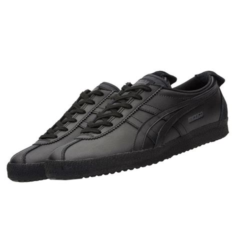 Onitsuka Tiger Mexico66 Black onitsuka tiger asics mexico 66 delegation shoes leather