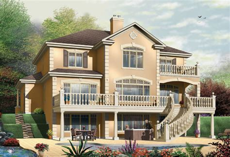 Home Ideas Waterfront House Plans On Pilings