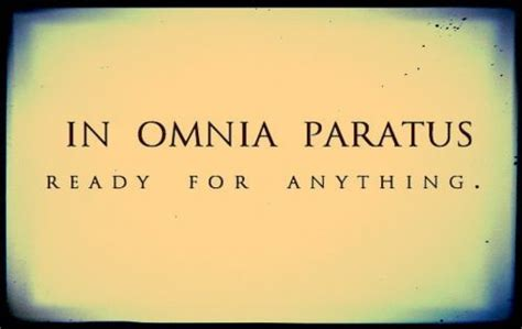 in omnia paratus tattoo in omnia paratus ready for anything