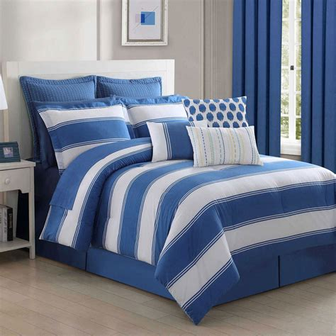 blue stripe comforter blue cabana stripe comforter bedding by fiesta