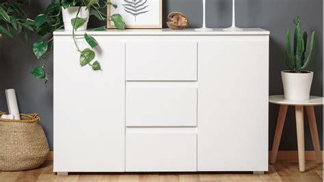 kommode 120 cm sideboard blanc 4 grifflose kommode in wei 223 120 cm breit