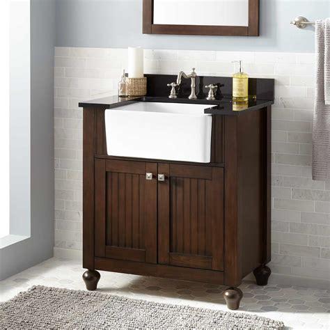 small farm sink for bathroom bathroom wood sink vanity signature hardware