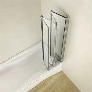 Retractable Shower For Bath 4 Fold 1000x1400mm Folding Shower Glass Bath Screen Matt