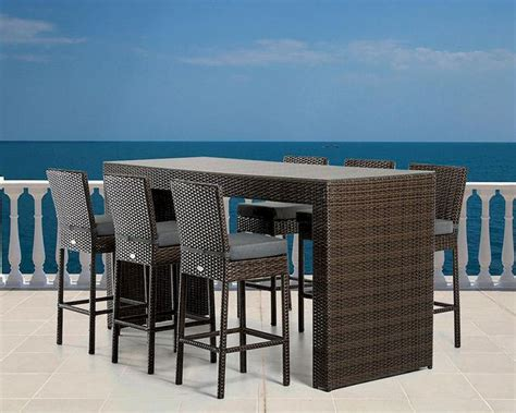 outdoor bar table set modern outdoor bar table set 44p464 set