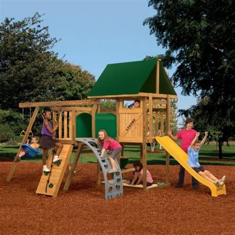 playstar playsets legend swing set with adventure tunnel
