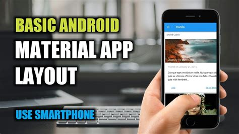 android layout framework basic android material app layout framework 7 1 youtube