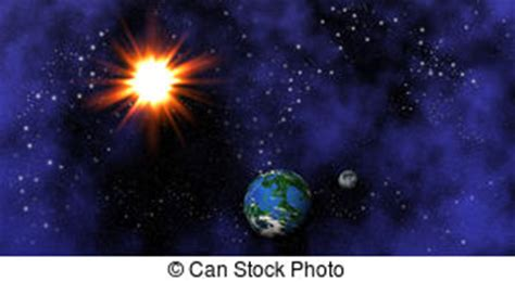 ilustraciones de vectores de sol tierra luna espacio stock de ilustrationes de sol tierra luna espacio