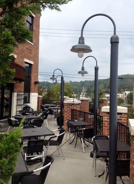 outdoor post mount lights post mount lighting brightens outdoor patio parks with