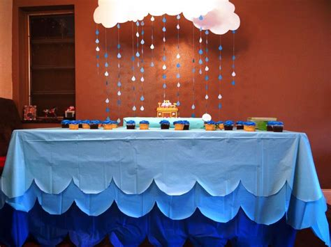 baby shower table covers noah s ark themed baby shower a baby prince s shower