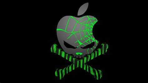 wallpaper apple skull pin apple skull crossbones wallpaper on pinterest