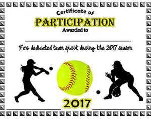softball certificate templates award certificate etsy