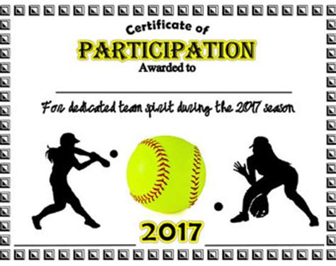 softball certificate templates free softball certificate templates 28 images 28